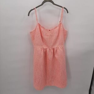 J. Crew coral color dress in size 10.